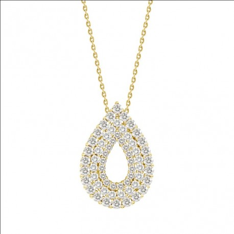 Hollow pear shaped luxury diamond pendant unison hollow pear shaped luxury diamond pendant mozeypictures Images