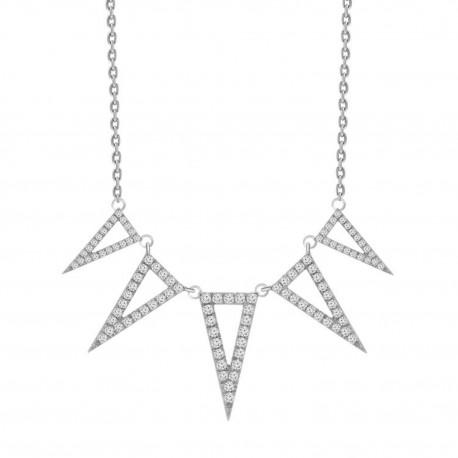 Diamond 5 Open Triangle Neckalce