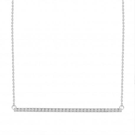 Diamond Bar Necklace(Large)