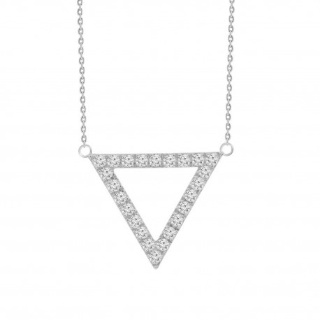 Diamond Open Triangle Necklace