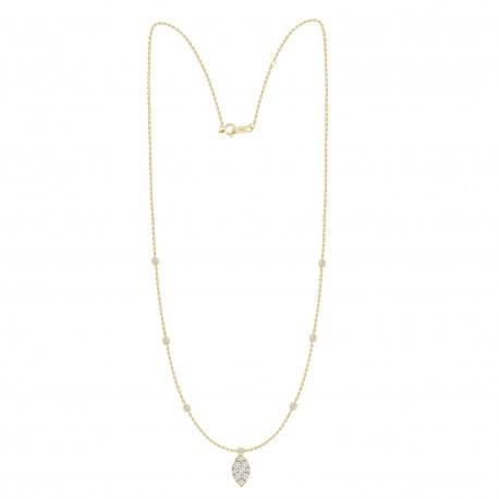 Diamond Marquise shaped Fashion Necklace