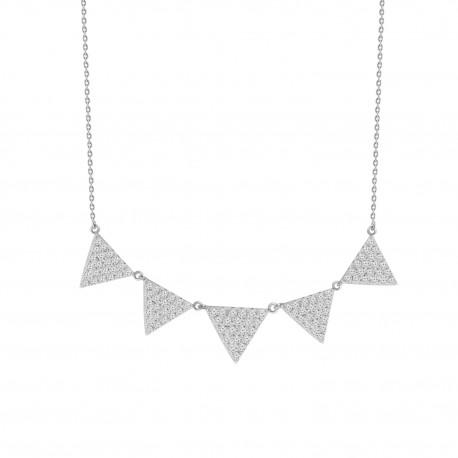 Diamond 5 Triangle Necklace