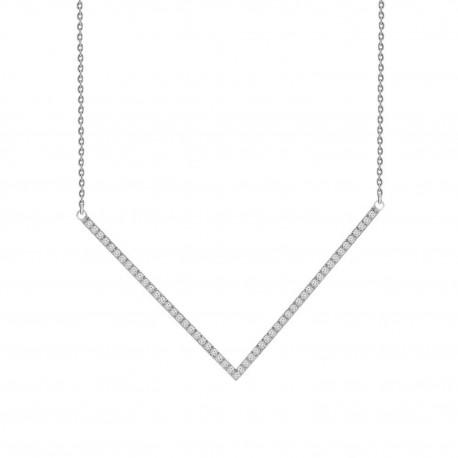 Diamond Chevron Necklace
