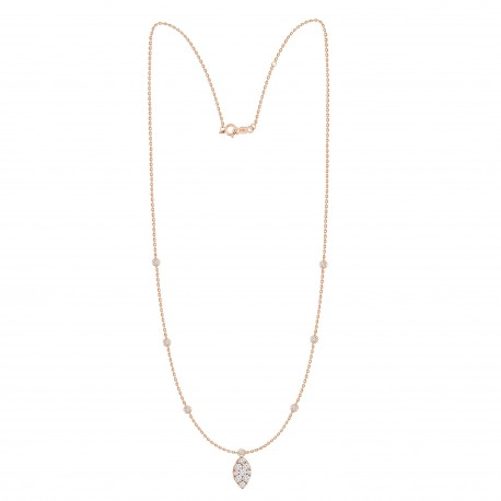 Diamond Marquise shaped Fashion Necklace
