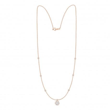 Diamond Round Shaped Fashion Necklace