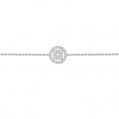Diamond Round Illusion Bracelet