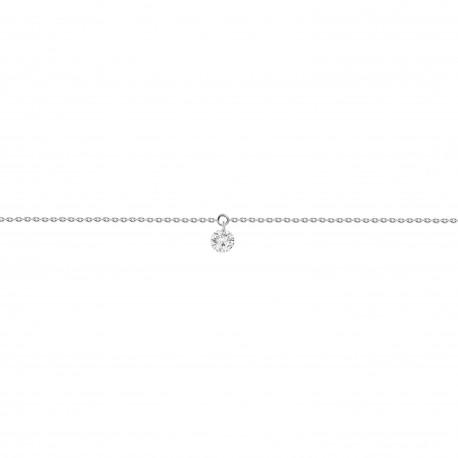 Laser Hole Diamond Dangling Bracelet