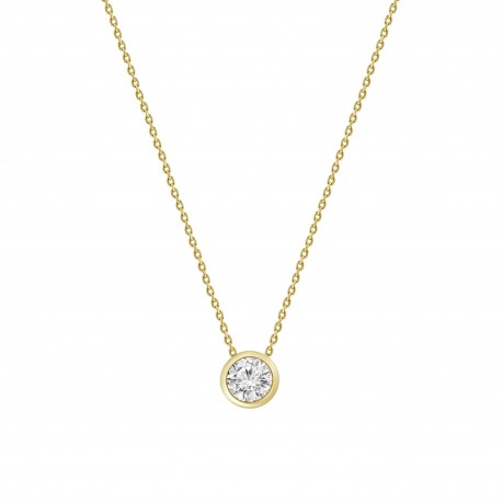 Diamond 0.2 Bezel setting Necklace