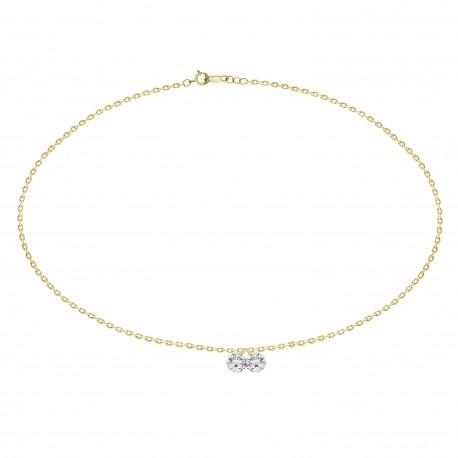 2 Laser Hole Diamond Dangling Bracelet