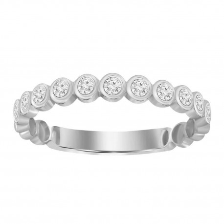 Diamond Stackable Round Ring