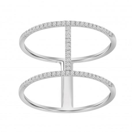 Diamond Line Fashion Ring
