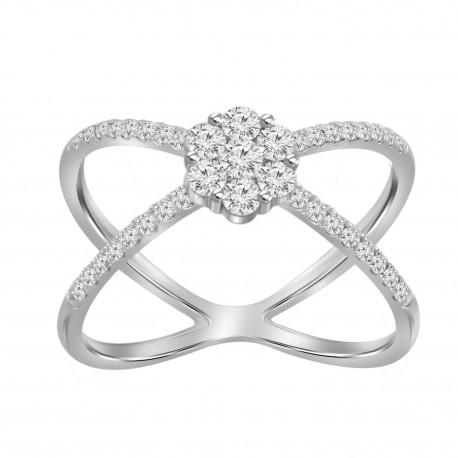 Diamond Round Pressure Setting X Ring