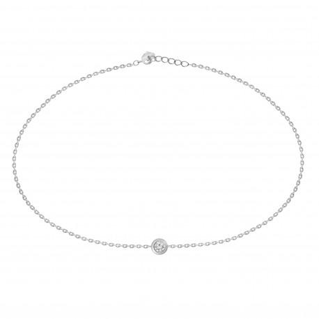 Diamond  Bezel Setting Bracelet