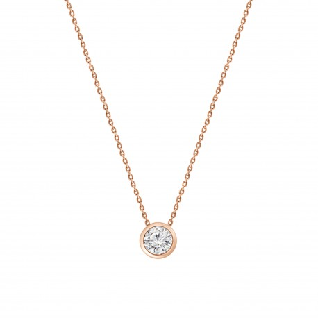 Diamond 0.3 Bezel setting Necklace