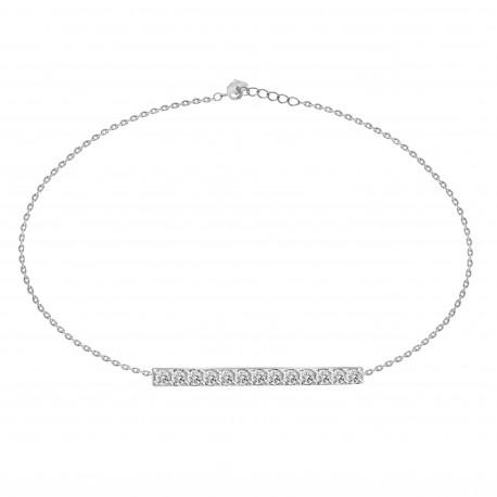 Diamond Bar Bracelet(Medium)