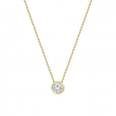 Diamond 0.5 Bezel setting Necklace