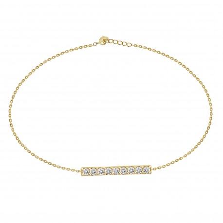 Diamond Bar Bracelet(Small)