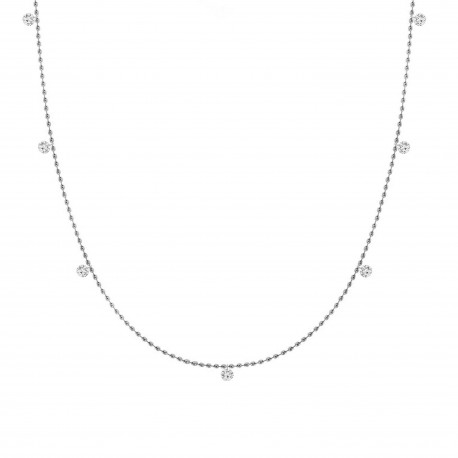 Laser Hole Diamond Station necklace(Medium)