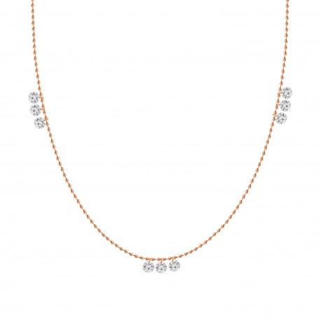 Laser Hole Diamond  Fashion Necklace
