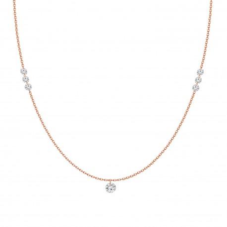 Laser Hole Diamond Endless Necklace