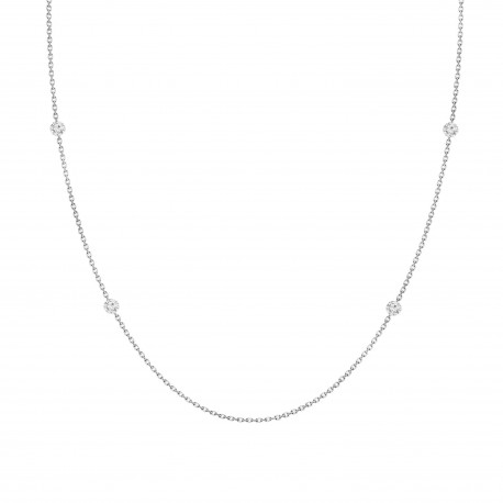 Laser Hole Diamond Layered Necklace(small)