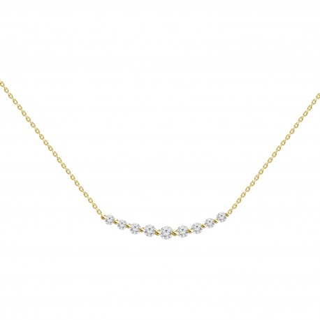 Diamond Crecsent Necklace(small)