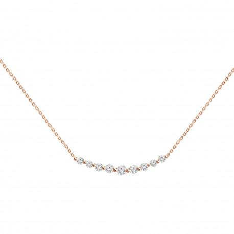 Diamond Crecsent Necklace(small)