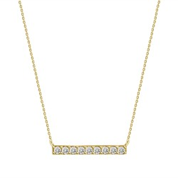 Diamond Bar Necklace(Small)