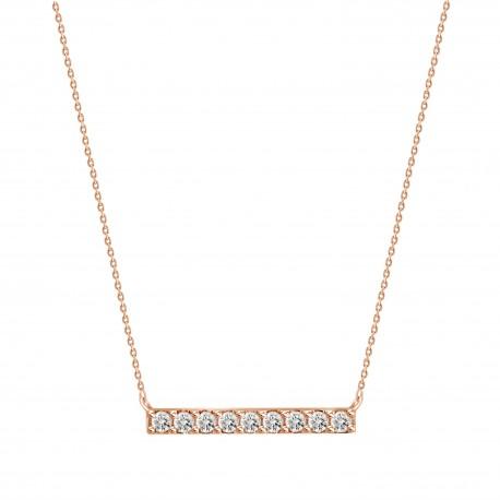 Diamond Bar Necklace(Small)