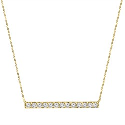 Diamond Bar Necklace(Medium)