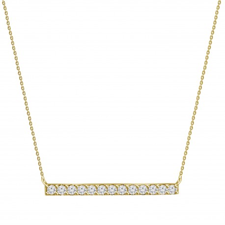 Diamond Bar Necklace(Medium)