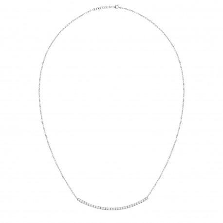 Diamond Bar Curve Necklace
