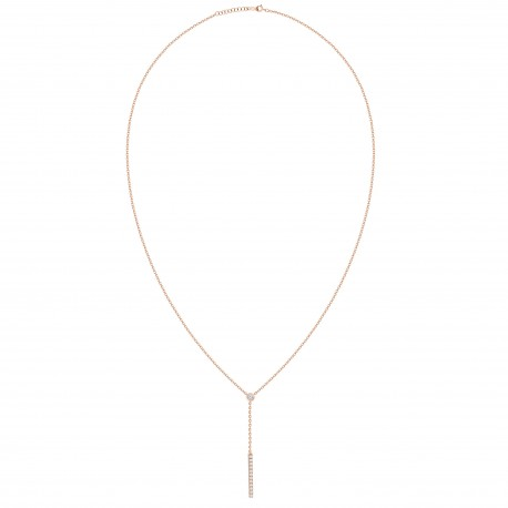 Diamond Bar Y-Knot Necklace