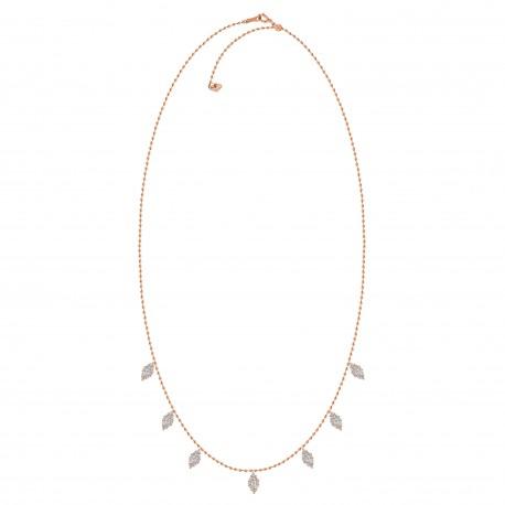 Diamond Marquise Pressure setting Station Necklace(Large)