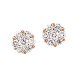 Diamond Round shape Earring(Large)