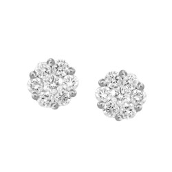 Diamond Round shape Earring(LL)
