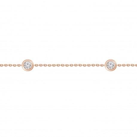 5 Diamond Bezel Station Bracelet