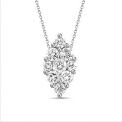 Diamond Marquise shaped Necklace