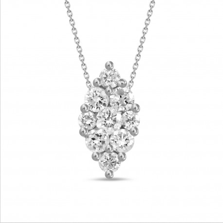 Diamond Marquise shaped Necklace