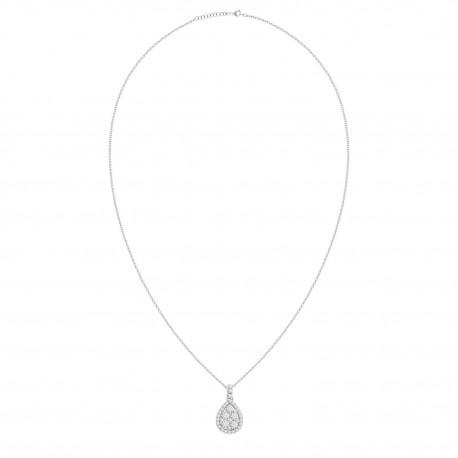 Diamond Drop Shaped Illusion Necklace