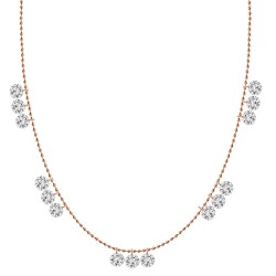 3 Laser Hole Diamond Station Necklace