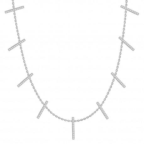 18K Diamond Linear Collar Necklace