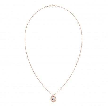 18K Fashionable Pear Shaped Diamond Pendant