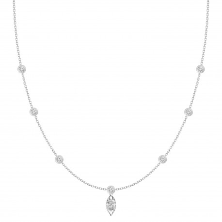 Marquise Diamond & Station Necklace