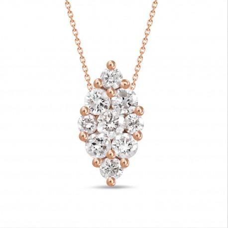 Diamond Marquise shaped Necklace(Medium)