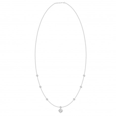 Round Shaped Diamond Dangling Necklace