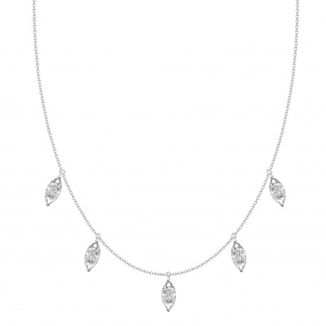 18K Marquise Diamond Collar Necklace