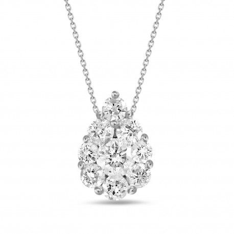 Diamond Pear shaped Necklace(Small)
