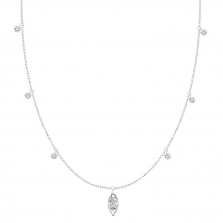 Marquise Diamond & Dangling Design Necklace