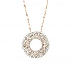 Hollow Round Luxury Diamond Pendant
